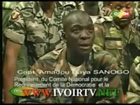 Amadou Haya Sanogo, President CNRDRE au Mali, 1er Discours (Audible)