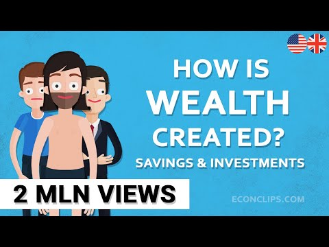 How is wealth created #savings and investments