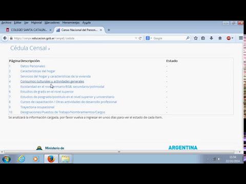 Tutorial Censo Docente 2014