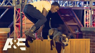 Rocko the Pit Bull Wins Fastest Run of the Night | America's Top Dog (Season 1) | A&E