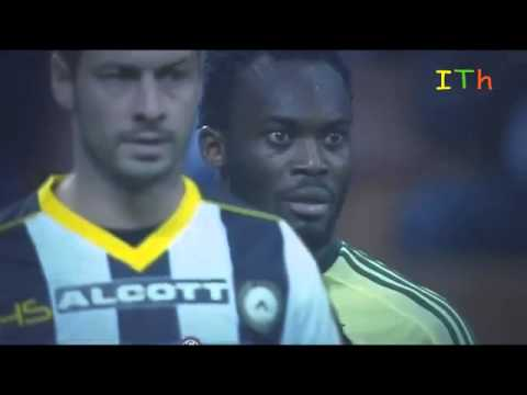 Michael Essien funny red card reaction Ac Milan vs Udinese