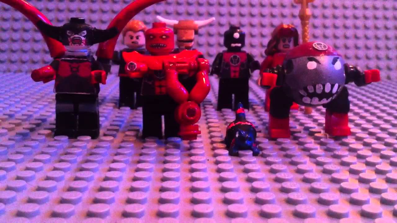 how to make a lego red lantern ring