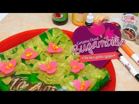 Gelatina Floral Bugambilias Paso a Paso Tecnica Gubiagujas
