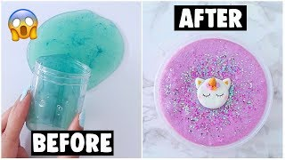 EXTREME SLIME MAKEOVERS *fixing my old slimes*