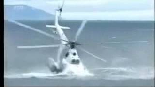 Russian Helicopter Crashes in Sea Water Hokkaido Island Japan Russian Mil Mi-14 Haze Training Crash