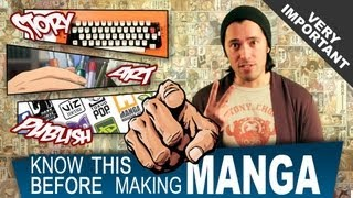 PREP YOURSELF: WATCH THIS VIDEO BEFORE Becoming a Manga Artist