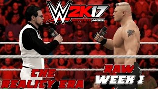 Wwe2k Universe Mode I The Reality Era (Raw Week 1)