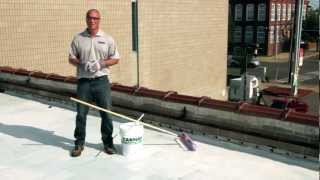 How to apply 501 Elasto-Brite White roof Coating over EPDM - KARNAK