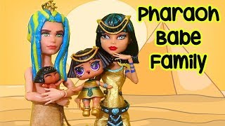 LOL Families ! The Pharaoh Babe Family Finds a Treasure ! Toys and Dolls Fun w/ Blind Bags | SWTAD