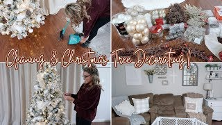 *NEW* CLEAN & DECORATE WITH ME FOR CHRISTMAS 2018 | DECORATING MY TREE & CLEANING MOTIVATION
