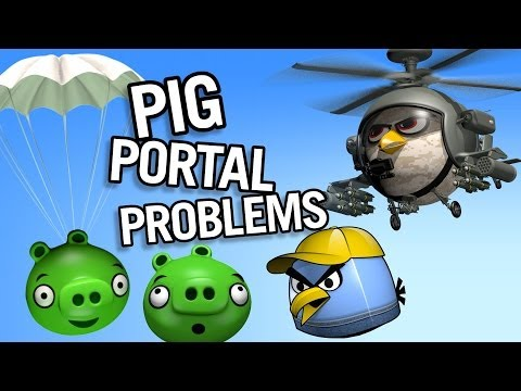 Pig Portal Problems - Angry Birds Parody video