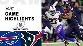Bills vs. Texans Wild Card Round Highlights | NFL 2019 Playoffs