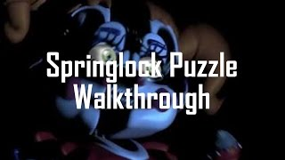 [SPOILERS] Walkthrough: How to Beat the Night 4 Springlock Puzzle | FNaF Sister Location (PC) Part 9