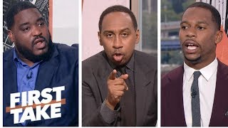 Stephen A., Damien Woody, Victor Cruz sound off on Vontae Davis' retirement | First Take | ESPN