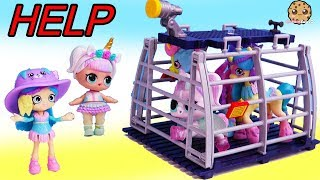Unicorn Rescue Adventure ! Unipony Needs Help from LOL Surprise + Shoppies