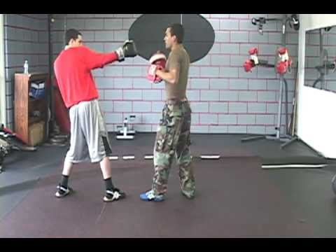 Boxing Training 101 For Southpaws, Basic Combination 1 of 2 - Right Jab, Left Cross & Right Hook Image 1