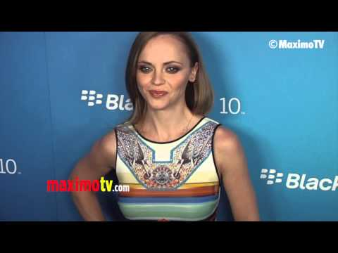 Christina Ricci GORGEOUS Blackberry Z10 Smartphone Launch Arrivals #thesmurfs2