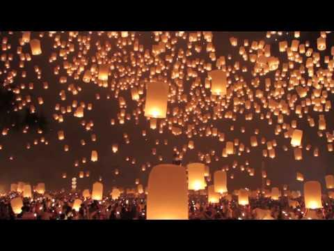 Lễ hội thả đèn trời ở Thái Lan