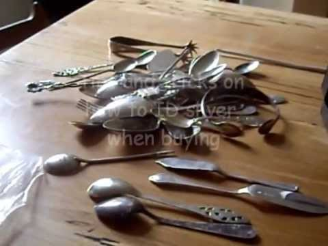 How to identify solid silver items and make some extra cash