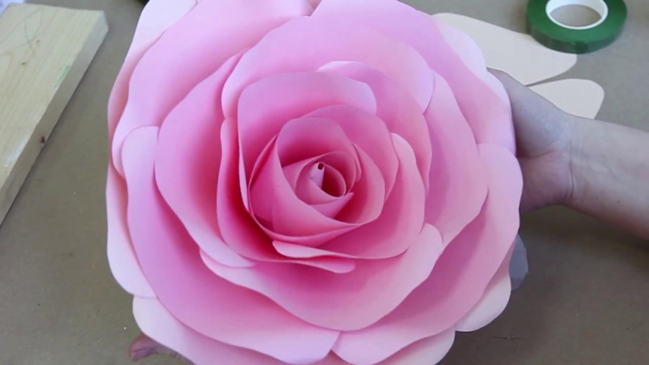 Большие цветы из бумаги мастер класс из гофрированной бумаги своими руками