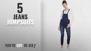 Top 10 Jeans Jumpsuits [2018]: Broadstar Women Denim Blue Dungarees