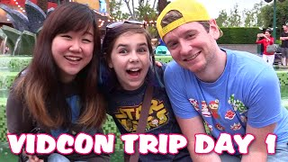 Vidcon Trip VLOG 1 - Meeting Up With Chad Alan and Dollastic - Downtown Disney