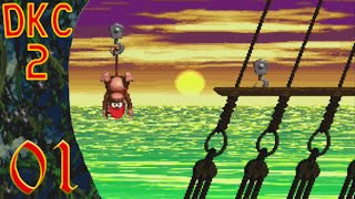 Let's Prey Together DKC 2: Diddy's Kong Quest - Welt 1 - Mit Prügel um die Welt