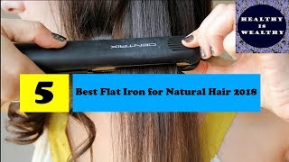 Five best flat iron for natural hair 2018 | Style your Healthy hair