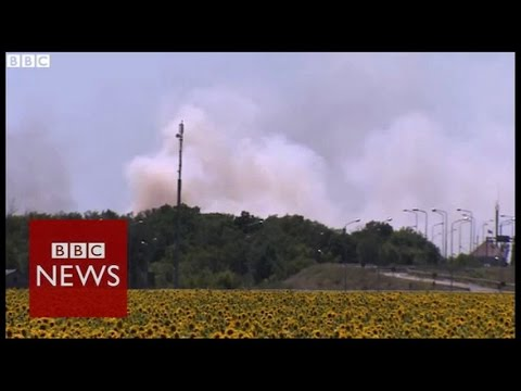 Ukraine: BBC witnesses 'intense gunfire'