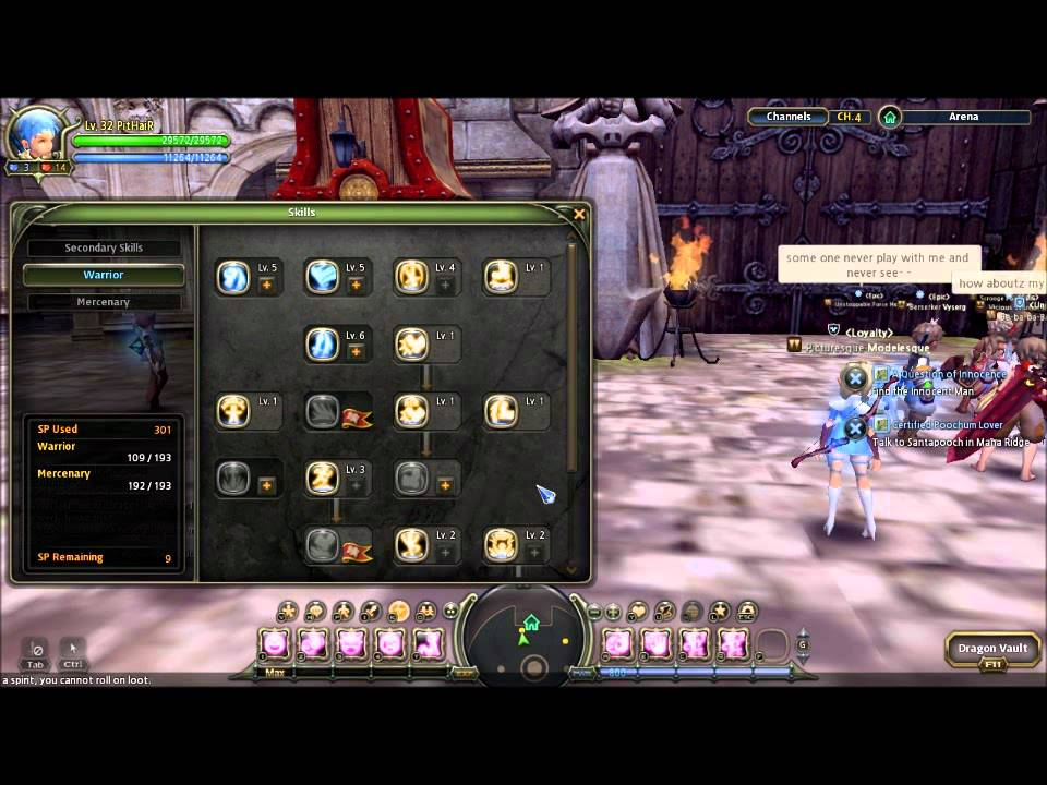 Mercenary Skill Build