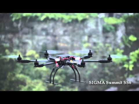 cnchelicopter.com SIGMA Summit SS6 long flying time large size 6-axis aircraft flying vdieo A