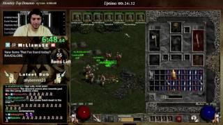 Diablo 2 - 8 MAN HARDCORE BARB SPEEDRUN!