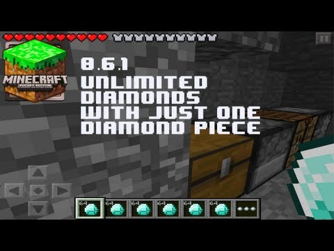 Minecraft Pocket Edition - Unlimited Diamonds With One Piece Glitch 0.6.1 iPod/iPad/iPhone