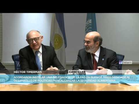 Firmaron un acuerdo para que la Argentina sea sede de la FAO