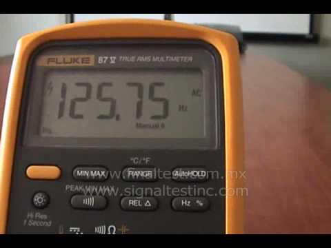 Medicion de Frecuencia con Multimetro Digital Fluke 87-V