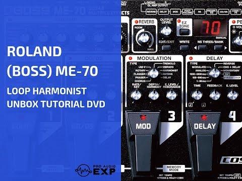 Roland Boss ME-70 loop harmonist unbox tutorial DVD ...