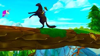 Don't Fall or Look Down ! Horse Trail Ride Quest Star Stable Online Game Video
