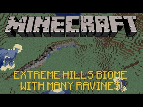 MINECRAFT SEED: HUGE EXTREME HILLS BIOME w/ MANY RAVINES!