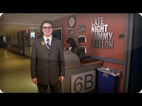 Late Night with Jimmy Fallon Interactive Backstage Tour: PAGE DESK