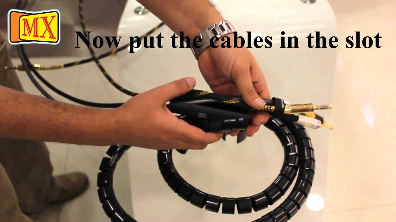 Easy Cable Cover Cable Organizer Youtube