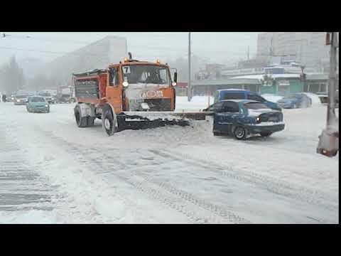 Снег в Харькове. 1.03.2018
