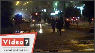 بالفيديو.. الأمن يمشط شارع الخزان بأكتوبر بعد اشتباكات الإخوان