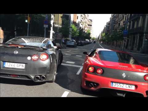 Ferrari 360 Modena F1 vs Nissan GTR Acceleration