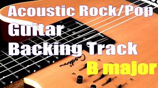 Acoustic Rock/Pop Backing Track in B major