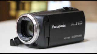 Panasonic HC-V180 Full HD Camcorder/Handy Video camera UNBOXING