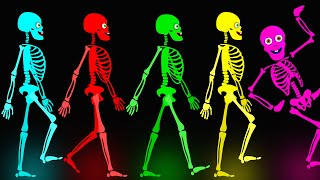 S1 - Midnight Magic - Five Skeletons Went Out One Night | Fun Skeletons Adventures Binge Compilation