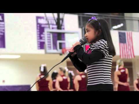 6 Yr Old Singing Star Spangled Banner Duluth High School - Angelica Hale
