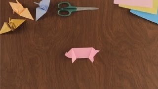 How To Make An Origami Pig : Simple &amp; Fun Origami