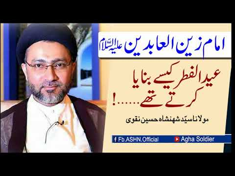 امام زین العابدین علیہ السلام عید الفطر کیسے بنایا کرتے تھے…؟   مولا نا سیّد شہنشاہ حسین نقوی