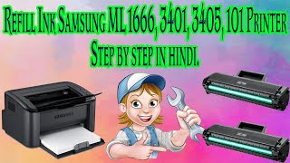 How to Refill Ink in Samsung Printer Toner 1666 3401 3405 101 Service the toner and changing the chi